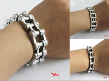12mm,16mm,20mm Silver Stainless Steel Mens Motorcycle Chain Bracelet Bangle Hot