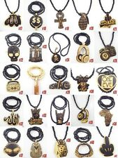 Good Quality King SWAG Pendants hip hop Wood Rosary Beads Chains Necklaces XL2