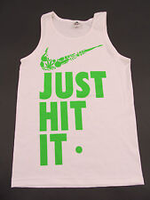 JUST HIT IT Tank Top Graphic  Nike Swoosh Parody Weed 420 Adult Humor Mens S-2XL