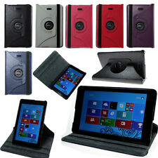 "360 Rotating Leather Case Cover Stand For 8"" Dell Venue 8 PRO win 8.1 Tablet"