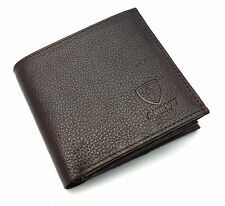 Designer J Wilson Real Genuine Mens High Quality Leather Wallet Purse Gift Box