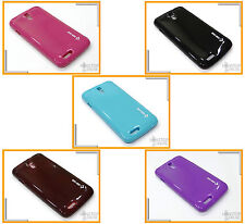 For Micromax Canvas Juice A77 / A177 Multi Color Soft Case Cover + Screen Guard