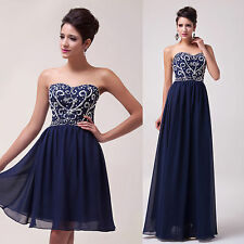 2014 Long / Short Evening Formal Bridesmaid Wedding Ball Gown Prom Party Dresses