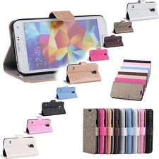 Diamond Pattern Leather Case Cover Skin Stand For Samsung Galaxy S5 S V i9600