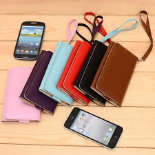 A Slim Bicast Leather Universal WristLet Clutch Case for Smart Mobile Phones