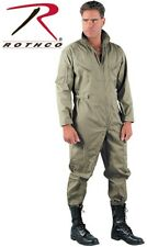 Khaki Military Style Flight Suit Air Force Style Fighter Flight Coveralls 7508