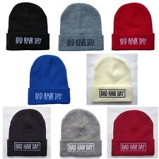 Men's BAD HAIR DAY Hip Hop women beanies Winter Acrylic knit wool cap Hats BH4