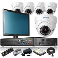5 x Focal Lens Camera Full D1 8 CH DVR CCTV System Complete Pack with Monitor 3G
