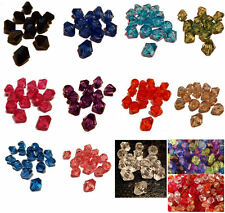 300 BICONE FACETED ACRYLIC BEADS 8MM 14 COLOUR CHOICES