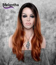 """16""""-28"""" Hot Ombre Front Lace Wigs Synthetic Heat Friendly Melantha Hair"""