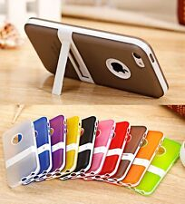 NEW Soft TPU Gel Silicone Hybrid Impact Kickstand Case Cover For Apple iPhone 5C