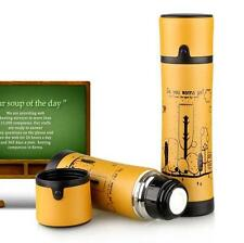 Yellow Bike Bicycle Stainless Steel Water Bottle Vacuum Thermos Flask 350/500ml