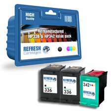 REMANUFACTURED HP 336 BLACK & HP 342 COLOUR- 3 INK CARTRIDGE EVERYDAY VALUE PACK