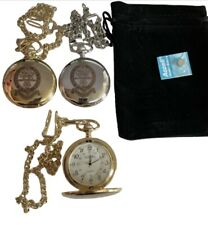 PWRR PRINCESS OF WALES REGIMENT POCKET WATCH ENGRAVED, COMES WITH VELVET POUCH