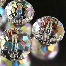 Wholesale ! ! SWAROVSKI Clear +AB Crystal Faceted Gems Loose Beads