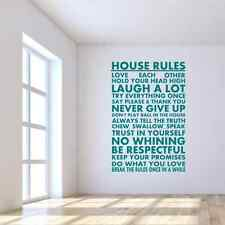 House Rules Vinyl Wall Sticker Wall Art Decal