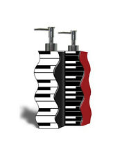 Jazzy Piano Keys Double Lotion or Soap Pump Dispenser Bath Bathroom Accessory
