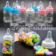 50 Fillable Baby Shower Bottles Favors Blue Pink Party Decorations Girl Decor