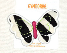 GYMBOREE Wild For Zebra Hair Headband Clips Snaps NWT