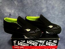 NEW VANS SLIP ON PANTHER Blk Shoes Todd. Boys SZs 4.5, 5.5, 7.5, 8.5, 9, 9.5,10