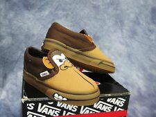 NEW VANS MONKEY Slip On Shoes Brown Toddler Boys SZs: 4.5, 5 & 9