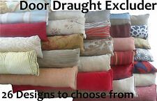 NEW Draught Draft Door Excluder High Quality Fabric Various Designs
