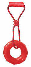 Kong SQUEEZZ RING WITH HANDLE Toss Tug + Fetch Squeaky Dog Toy CHOOSE SIZE