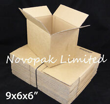 "9x6x6"" CARDBOARD MAILING / PACKING BOXES - SUITABLE FOR A5 DOCUMENT STORAGE"