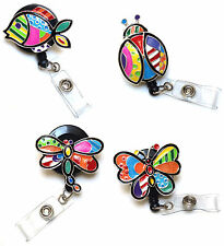 Retractable ID badge Reel holder Nurse Doctor Airline - Colorful Patchwork