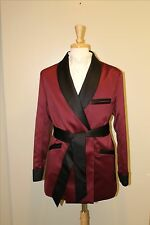 Smoking Jacket - Burgundy / Black  - Lightweight