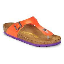 Birkenstock Birko-Flor Gizeh $149rrp Graceful Orange 37 BNIB ***CLEARANCE***