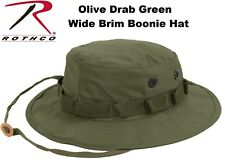 Olive Drab Green Military Tactical Wide Brim Bucket Hunting Boonie Hat 5811