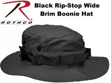 BLACK Military Tactical RIP-STOP Wide Brim Bucket Hunting Boonie Hat 5819