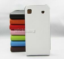 Genuine Real Leather Flip Up Case Stand Cover For Samsung Galaxy S 1 i9000