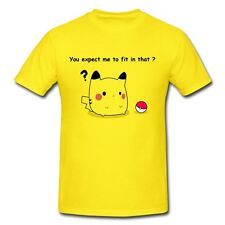 Pikachu Pokemon Pokeball Nintendo Graphic T-Shirt Men's Style 3 Colors!