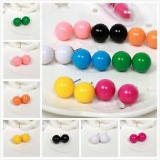 Cute Fashion Candy Bubble Color Ball Stud Round Earrings Eight Color