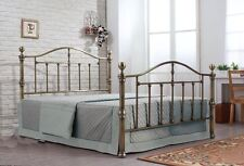 Happy Beds Victoria Traditional Styled Metal Bed Brushed Nikel Furniture Bedroom