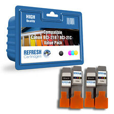 COMPATIBLE CANON 2 x BCI-21BK / 2 x BCI-21C - 4 INK CARTRIDGE BASIC VALUE PACK