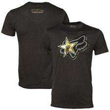 Fox Racing Men's Stellar Rockstar Energy Limited Gold Foil Tee T Shirt - Black