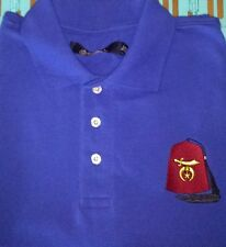 MASONIC SHRINER'S FEZ Custom Embroidered Polo Shirt Mason SHRINER Shirt