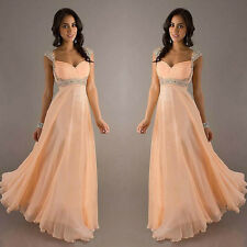New Stock Evening Formal Party Ball Prom Bridesmaid Dresses 4 6 8 10 12 14 16