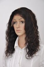 front wigs full wig lace front wig 100% remy indian human hair deep wave soft