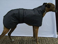 """NEW WOODLANDS 17"""" 19"""" 21"""" 23"""" WATERPROOF WHIPPET COATS BLACK & WHITE CHECK WARM"""