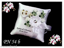 ~ Personalised wedding ring cushion pillow with rings holder box & CRYSTAL ~