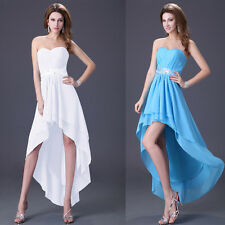 HIgh-Low Evening Prom Gown Pageant Homecoming Cocktail Bridesmaid Formal Dresses