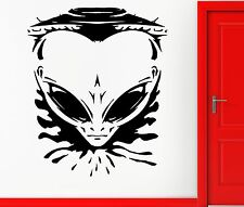 Angry Allien Spaceship Universe Space Decor Wall Stickers Vinyl Decal  (z2251)