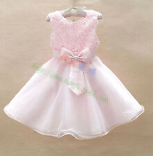 New Fashion Princess Girl Costume Cosplay Party Wedding Tulle Girls Dresses 2-8T