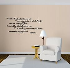 Gold Forever : The Wanted ~ Wall or Window Decal