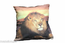 LION  !!! AWESOME ANIMAL PRINT FAUX SUEDE CUSHION COVERS -