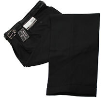 BIG & TALL MENS TROUSERS BLACK PLEATED DRESS PANTS SLACKS & BELT NEW Sizes 44-7